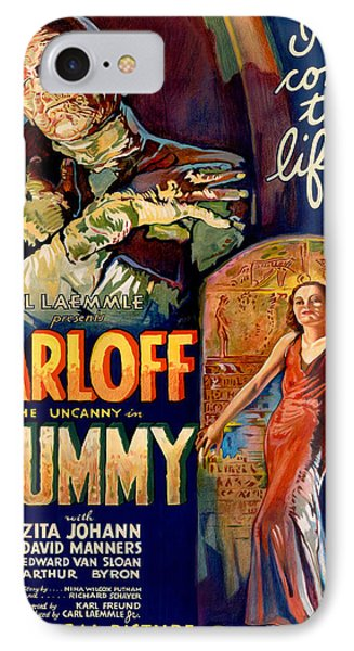 Vintage Poster - The Mummy IPhone Case by Vintage Images