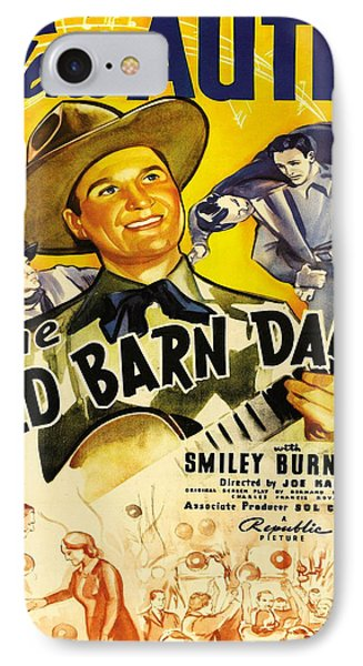 Vintage Poster - The Old Barn Dance IPhone Case by Vintage Images