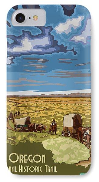 Vintage Poster - The Oregon Trail IPhone Case by Vintage Images
