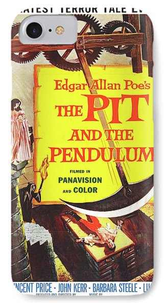 Vintage Poster - The Pit And The Pendulum IPhone Case by Vintage Images