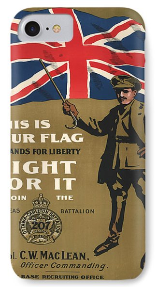 Vintage Poster - This Is Your Flag IPhone Case by Vintage Images