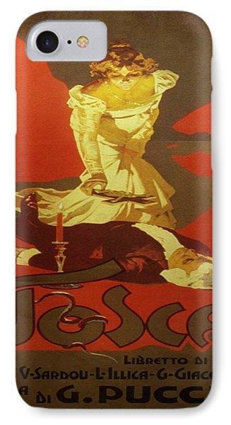 Vintage Poster - Tosca IPhone Case by Vintage Images
