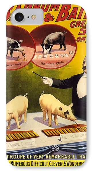 Vintage Poster - Trained Pigs IPhone Case by Vintage Images