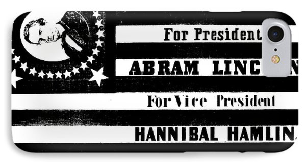 Vintage Presidential Campaign Flag Of Abraham Lincoln For President IPhone Case by American School