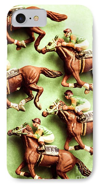 Vintage Racehorse Art IPhone Case