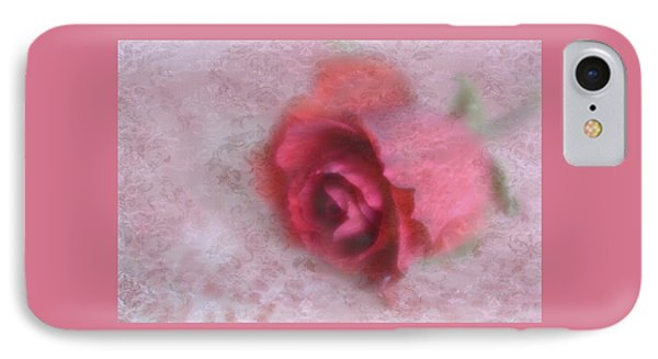 IPhone Case featuring the photograph Vintage Red Rose by Diane Alexander