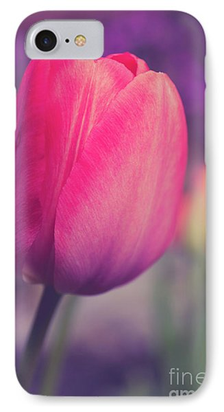 IPhone Case featuring the photograph Vintage Red Tulip Flower by Edward Fielding