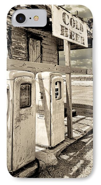 Vintage Retro Gas Pumps IPhone Case by Mindy Sommers