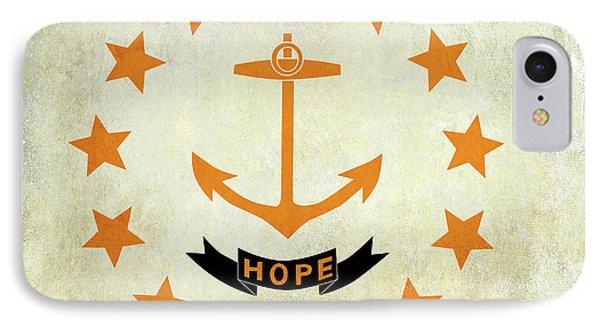 Vintage Rhode Island Flag IPhone Case by Jon Neidert