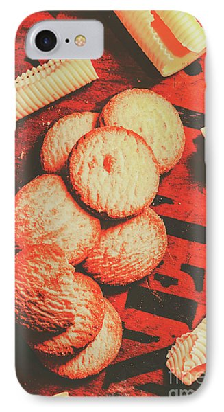 Vintage Rich Butter Shortcake Cookies IPhone Case by Jorgo Photography - Wall Art Gallery