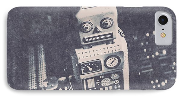 Vintage Robot Toy IPhone Case by Jorgo Photography - Wall Art Gallery