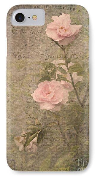 Vintage Rose Poster IPhone Case