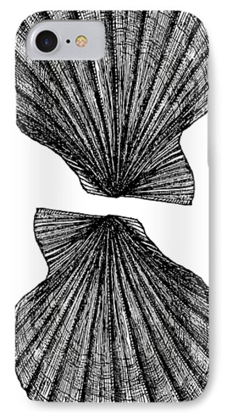 IPhone Case featuring the photograph Vintage Scallop Shells by Edward Fielding