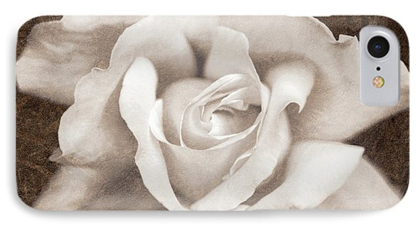 IPhone Case featuring the photograph Vintage Sepia Rose Flower by Jennie Marie Schell