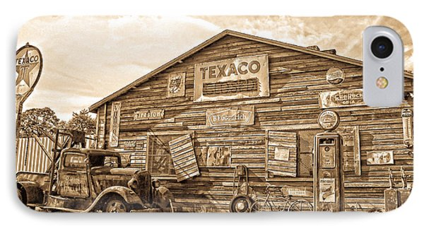 Vintage Service Station IPhone Case by Steve McKinzie
