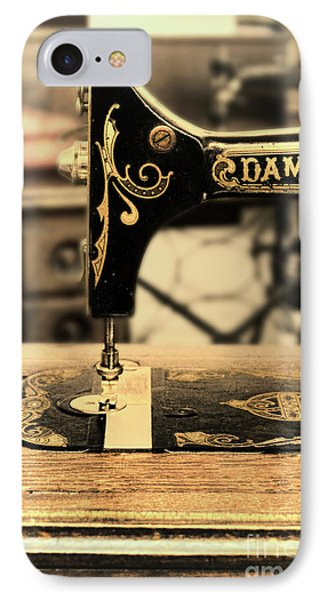 IPhone Case featuring the photograph Vintage Sewing Machine by Jill Battaglia