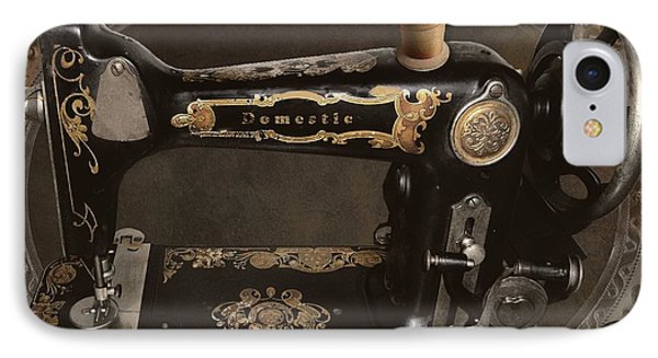 Vintage Sewing Machine IPhone Case by Mindy Sommers