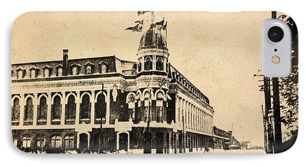 Vintage Shibe Park In Sepia IPhone Case by Bill Cannon