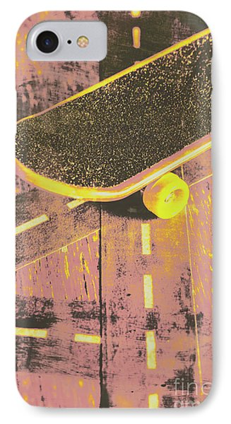 Vintage Skateboard Ruling The Road IPhone Case by Jorgo Photography - Wall Art Gallery