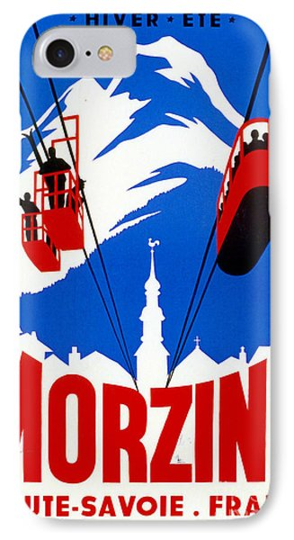 Vintage Ski Travel France IPhone Case by Mindy Sommers