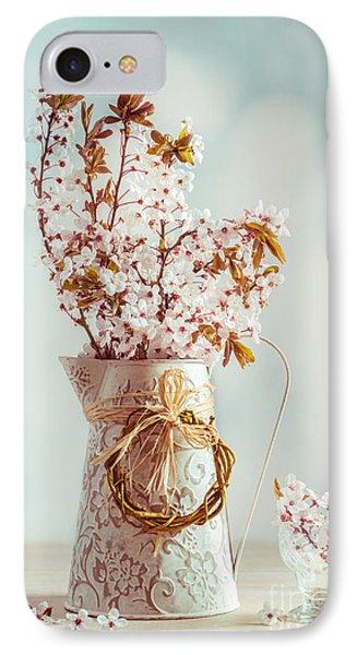 Vintage Spring Blossom IPhone Case by Amanda Elwell