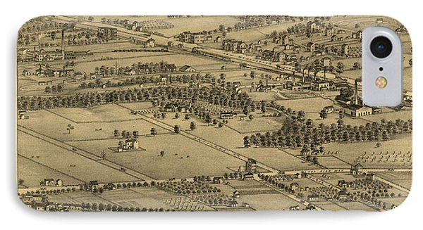 Vintage St Louis Map - 1875 IPhone Case by Camille Dry