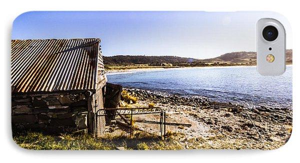 Vintage Stone Beach Cabin  IPhone Case