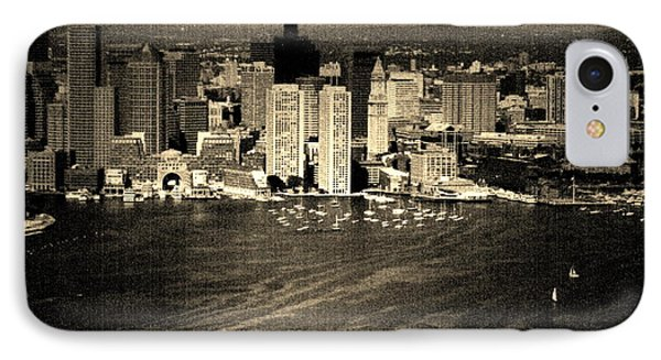 Vintage Style Boston Skyline Phone Case by Marjorie Imbeau