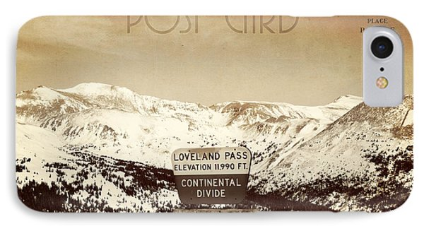 Vintage Style Post Card From Loveland Pass Phone Case by Juli Scalzi