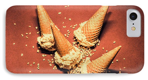 Vintage Summer Ice Cream Spill IPhone Case by Jorgo Photography - Wall Art Gallery