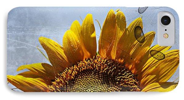 Vintage Sunflower- Fine Art IPhone Case by KayeCee Spain