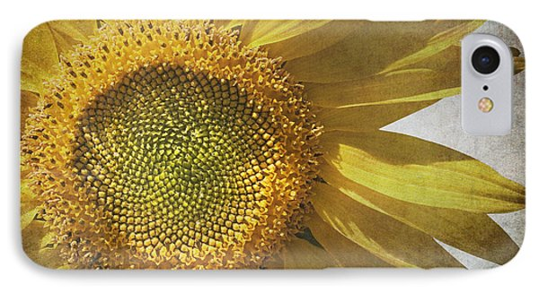 Vintage Sunflower IPhone Case by Jane Rix