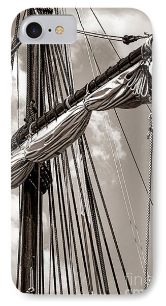 Vintage Tall Ship Rigging IPhone Case by Olivier Le Queinec