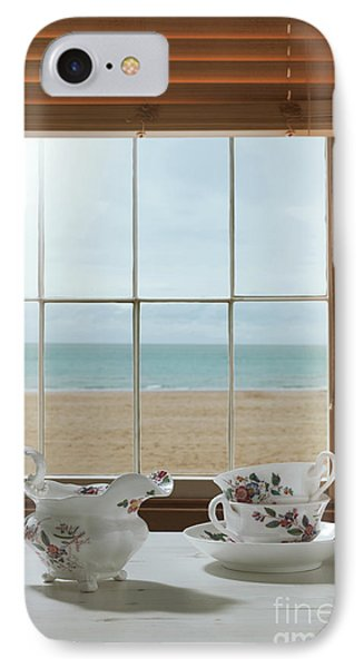 Vintage Teacups In The Window IPhone Case