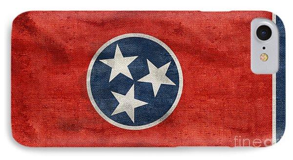 Vintage Tennessee Flag IPhone Case by Jon Neidert