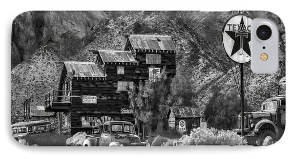 Vintage Texaco Gas Station Bw IPhone Case by Susan Candelario