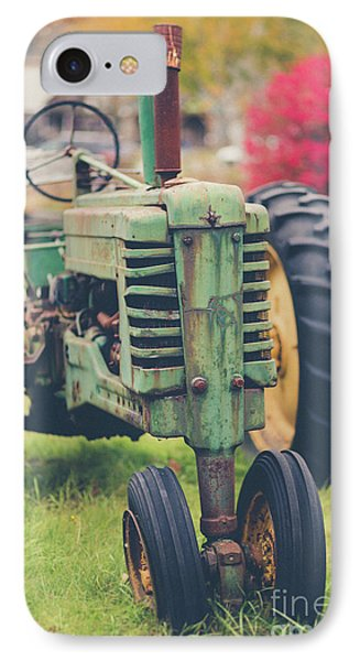 Vintage Tractor Autumn IPhone Case by Edward Fielding