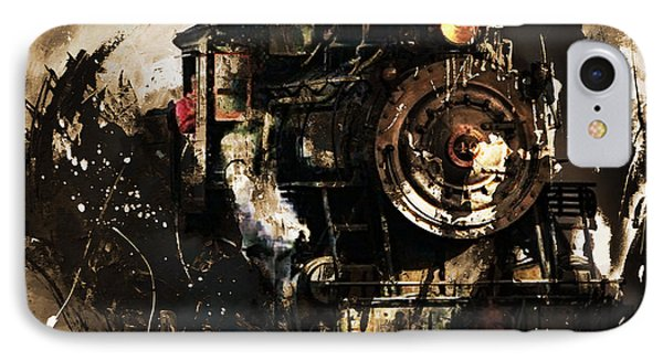 Vintage Train 06 IPhone Case by Gull G