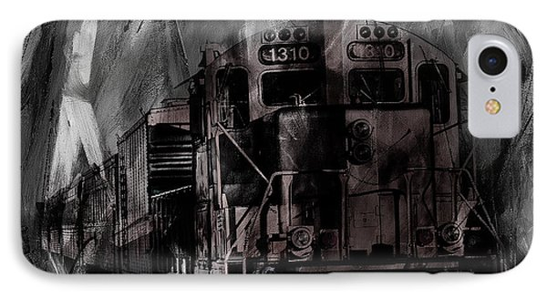 Vintage Train 07 IPhone Case by Gull G