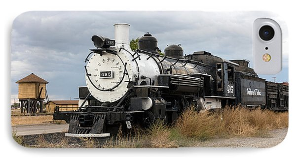 IPhone Case featuring the photograph Vintage Train At A Scenic Railroad Station In Antonito In Colorado by Carol M Highsmith