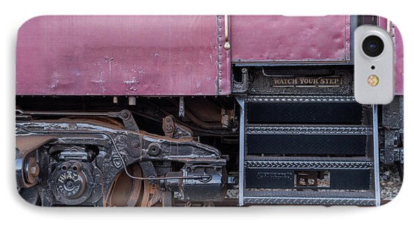 Vintage Train Car Steps IPhone Case by Terry DeLuco