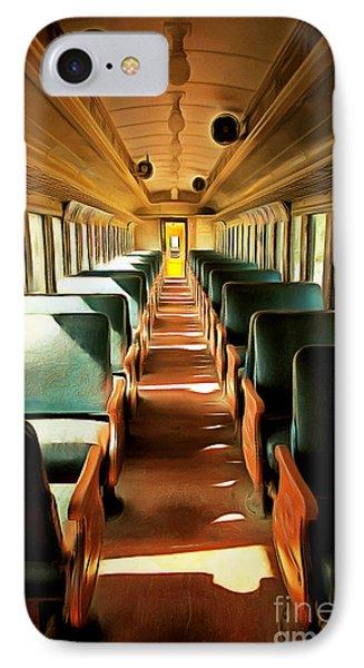 Vintage Train Passenger Car 5d28307brun IPhone Case