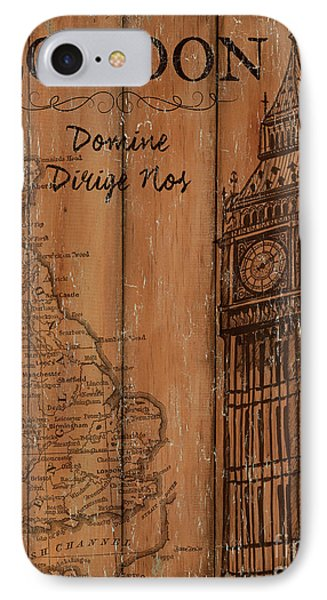 IPhone Case featuring the painting Vintage Travel London by Debbie DeWitt