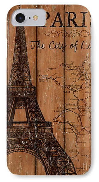 IPhone Case featuring the painting Vintage Travel Paris by Debbie DeWitt