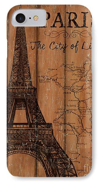 Vintage Travel Paris IPhone Case by Debbie DeWitt