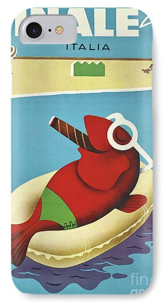 Vintage Travel Poster Italy Phone Case by Mindy Sommers