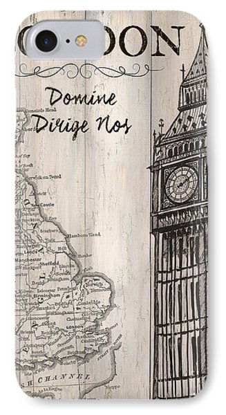 Vintage Travel Poster London IPhone Case by Debbie DeWitt