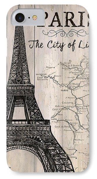 Vintage Travel Poster Paris IPhone 7 Case by Debbie DeWitt