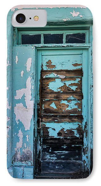 IPhone Case featuring the photograph Vintage Turquoise Door  by Saija Lehtonen
