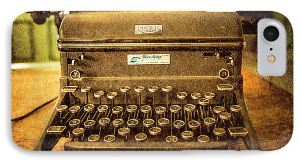 Vintage Typewriter IPhone Case by Cynthia Wolfe